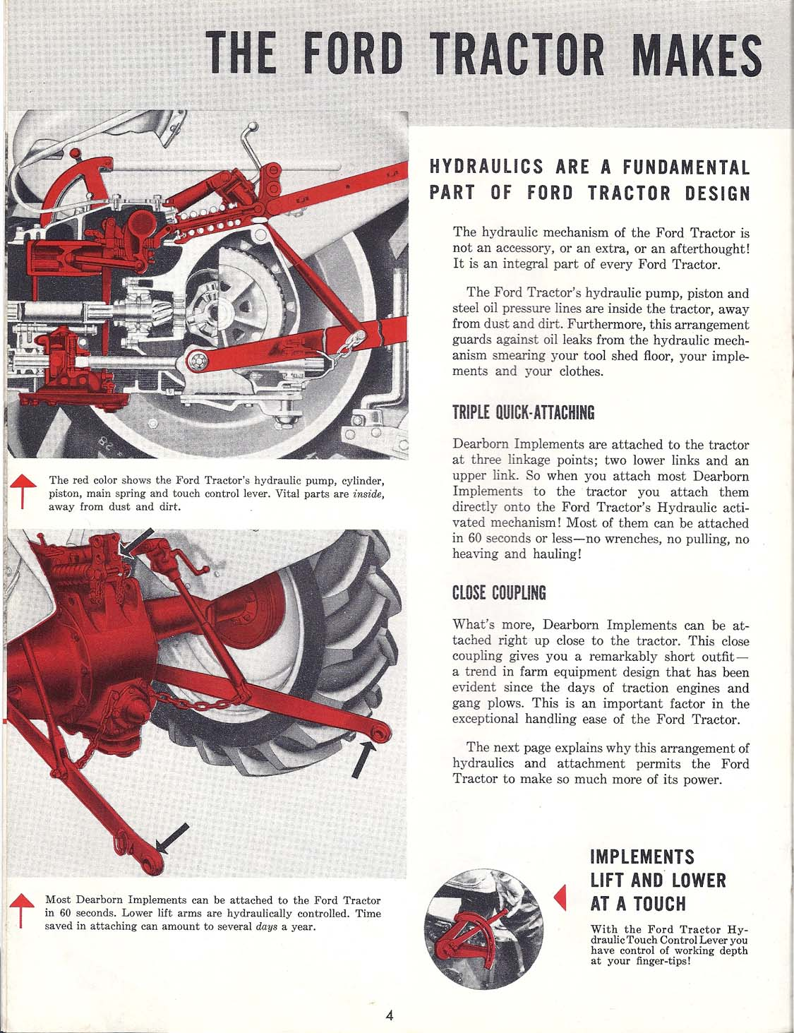 Ford Tractor With Exclusive Proof Meter Ad Brochure 8n No Oil Pressure This Is A 1951 Dealer For The