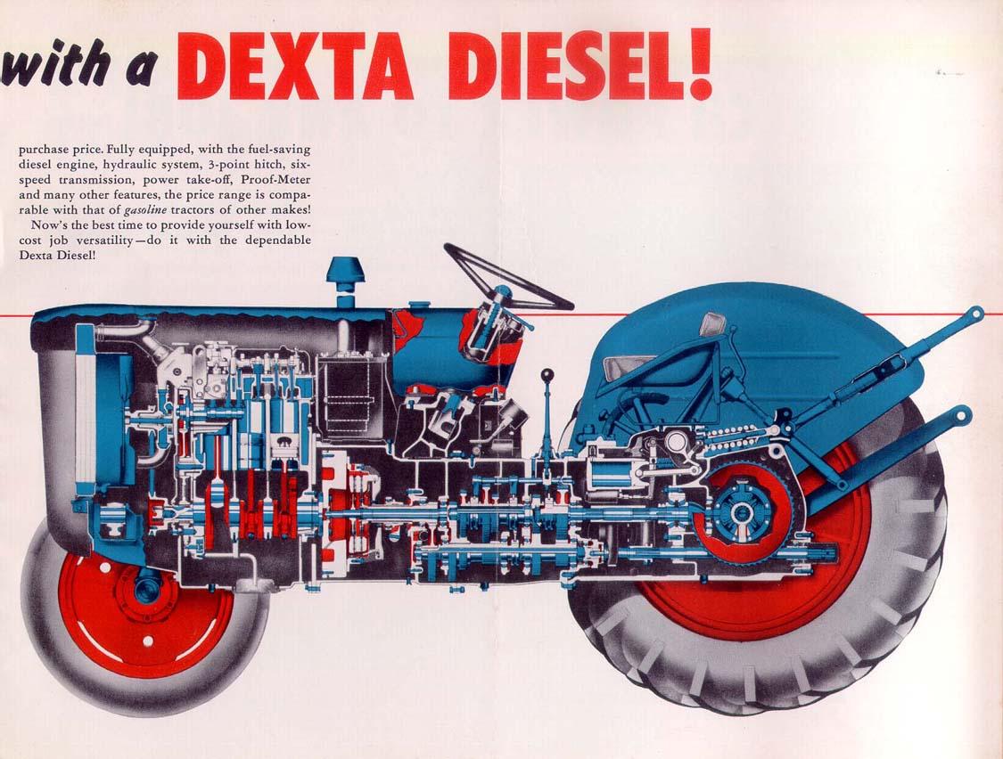 Fordson Dexta Und Super Dexta Workshop /& Teile Manuell