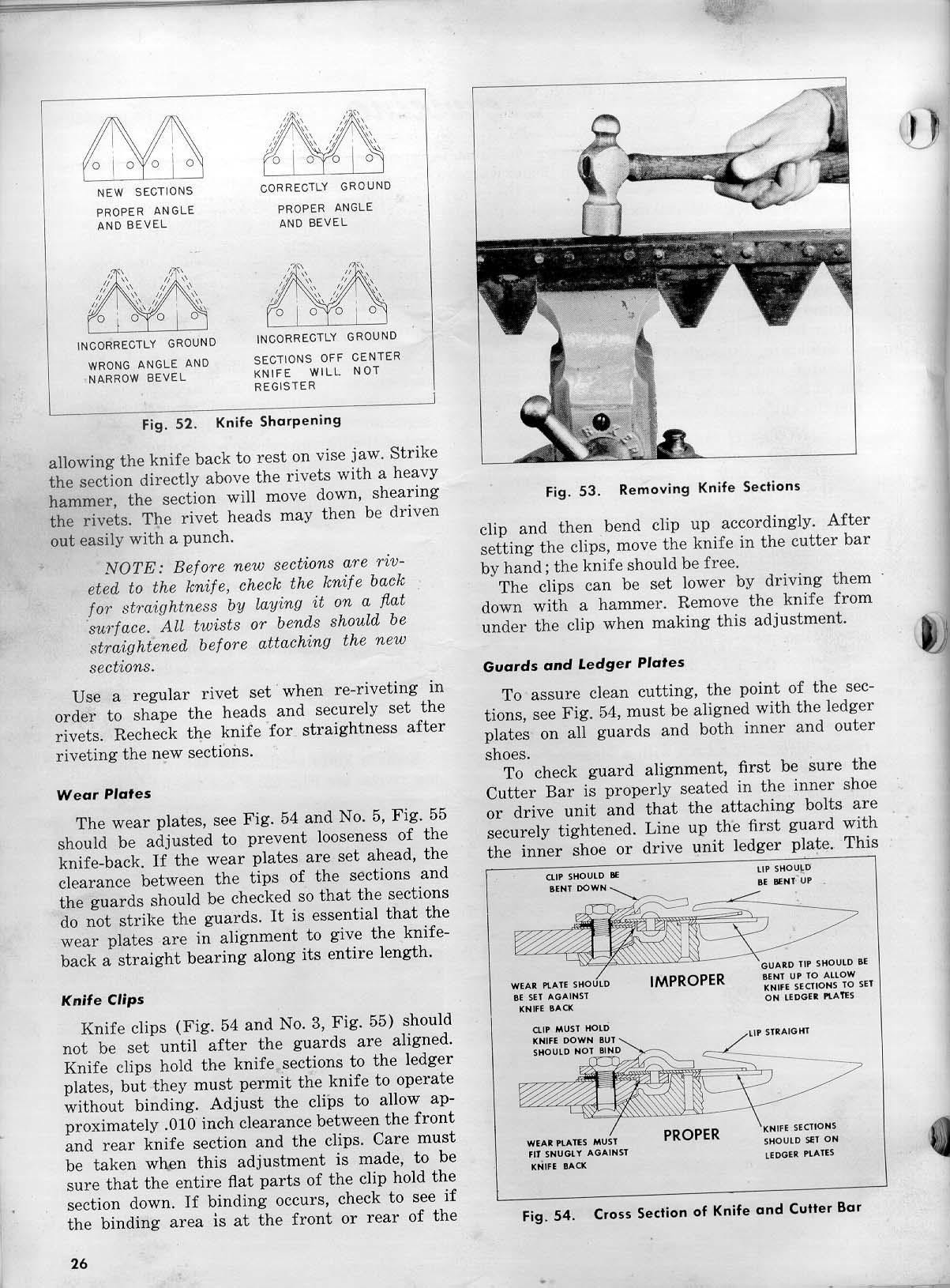 Ledger Plates Sickle : Servicing pages