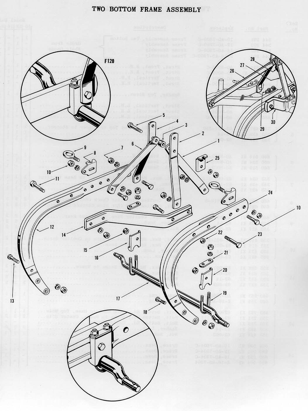 massey ferguson plow parts diagram