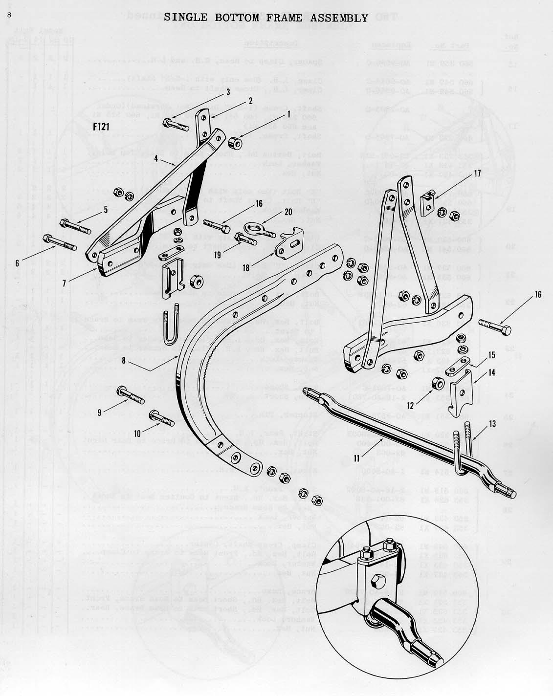 Ferguson Moldboard Plow Parts : Ferguson ao mouldboard plows parts book