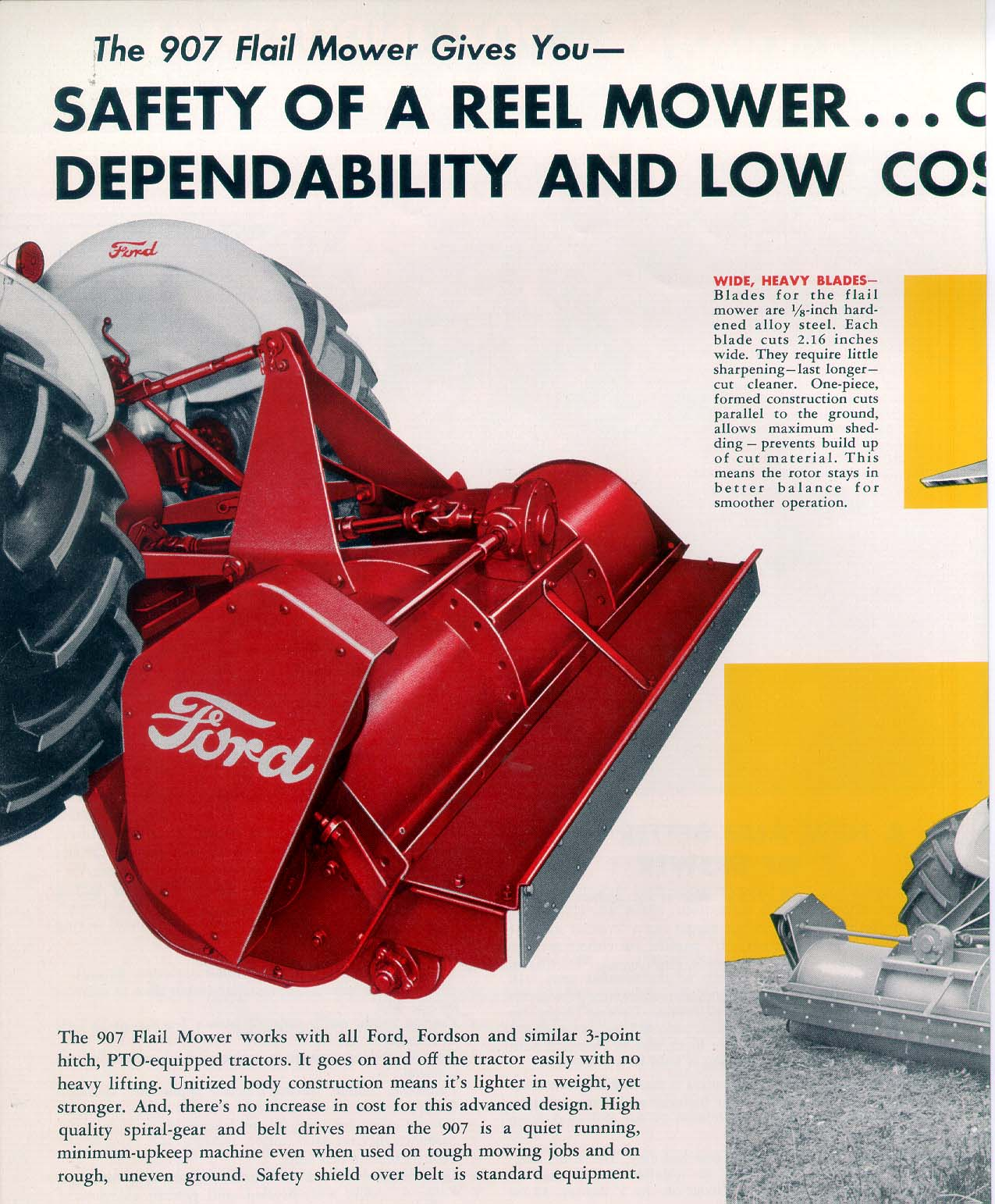 Ford 907 Flail Mower - dealer ad brochure