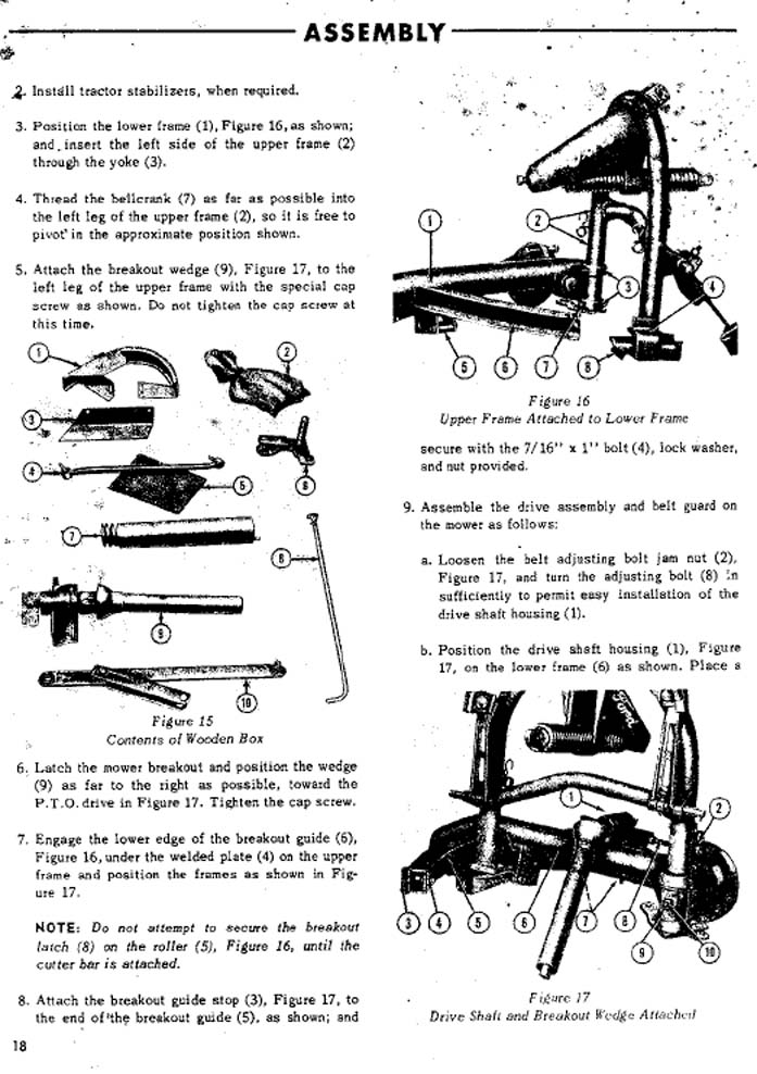Ford Tractor Model 501 : Sickle mower parts pictures to pin on pinterest