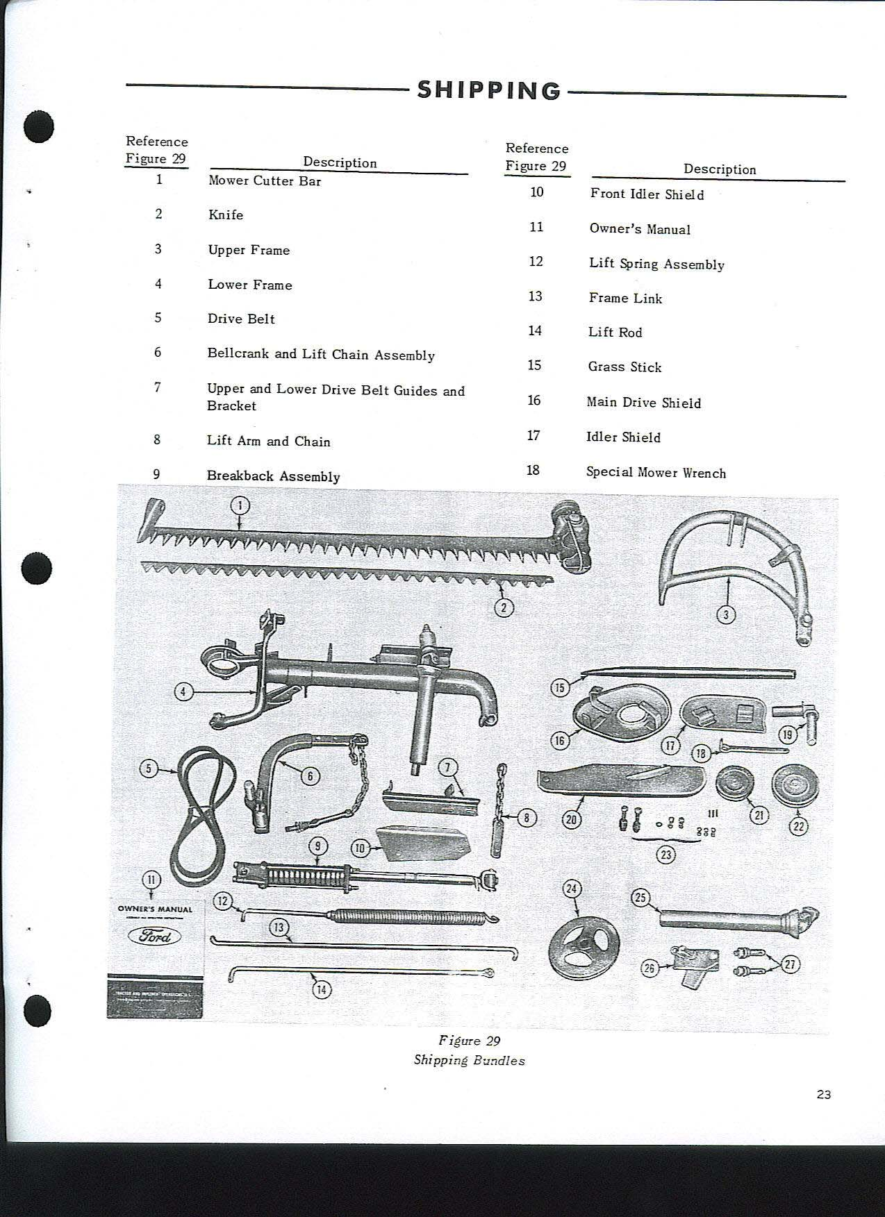 Ford 501 Mower Parts Diagram Ford Auto Wiring Diagram