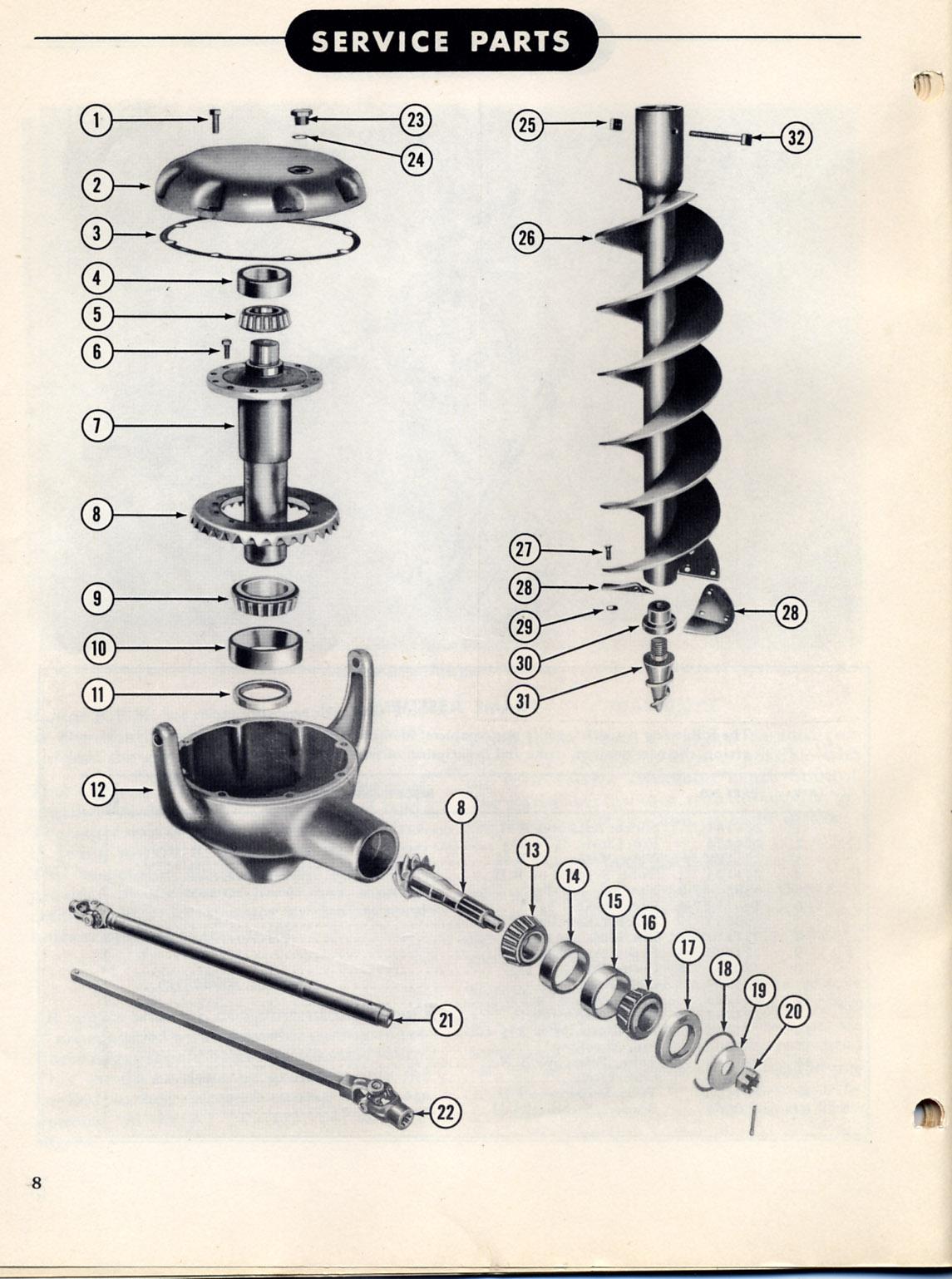 Ford Tractor Auger Parts : Post hole digger parts diagram loader elsavadorla