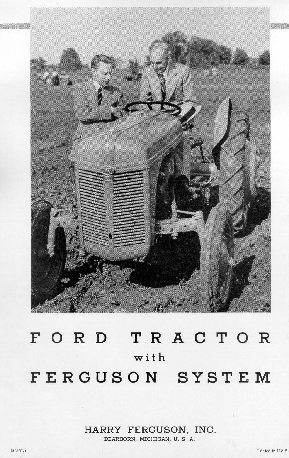 9n Ford Tractor >> Ford Tractor with Ferguson System - ad brochure