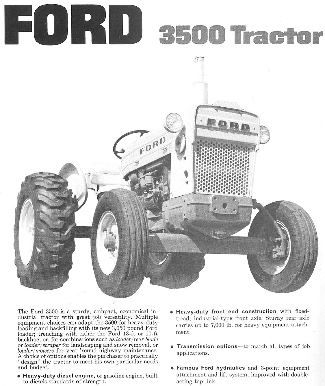 Ford 3500 Tractor : Ford stage tractor ad brochure