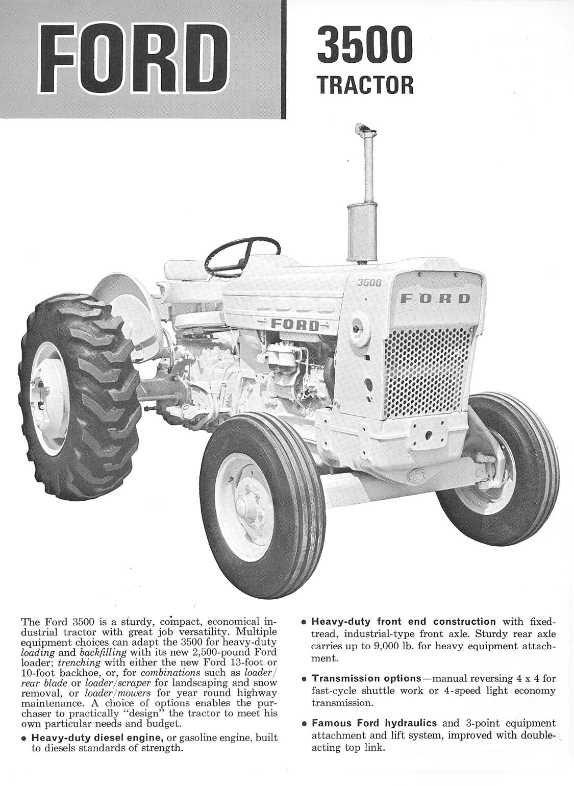 Ford 3500 Tractor : Re ford stage tractor ad brochure