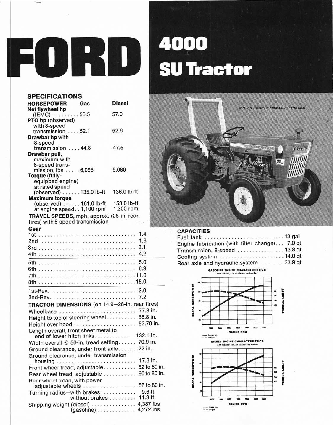 ford  su tractor dealer ad brochure